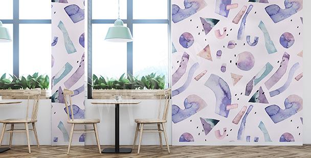 Papier peint abstrait violet