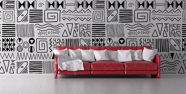 Papier peint africain pour salon