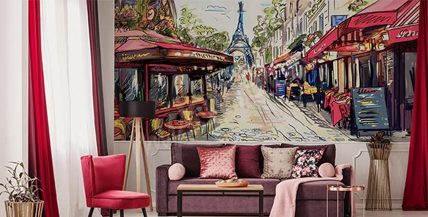 Papier peint allée parisienne