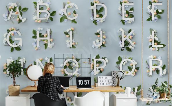 Papier peint alphabet pour bureau