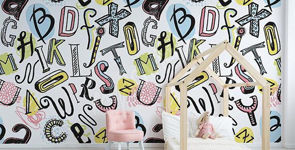 Papier peint alphabet pour enfant