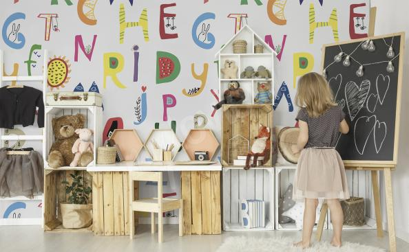 Papier peint alphabet pour enfants