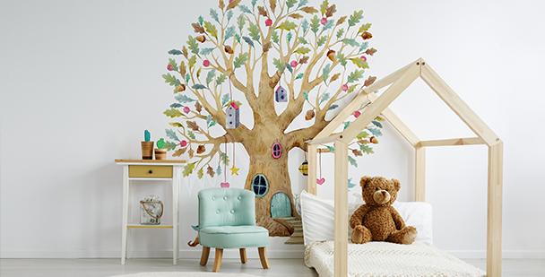 Papier peint arbre pour d'enfant