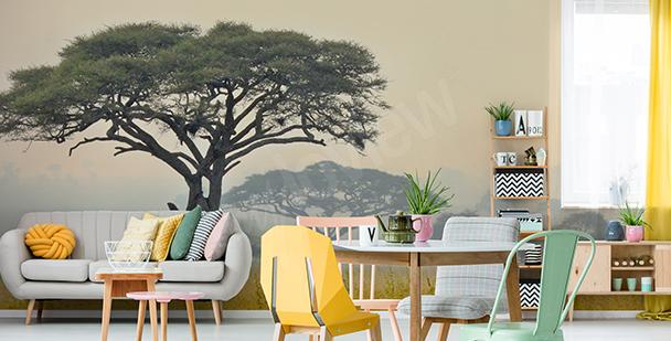 Papier peint arbres en Tanzanie