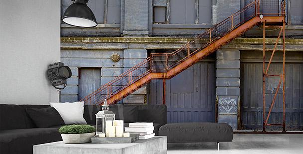 Papier peint avec escalier en profondeur