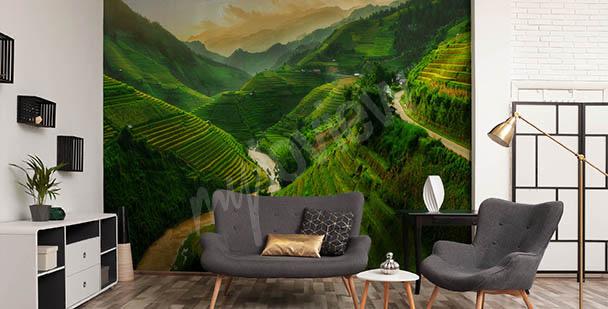 Papier peint avec un paysage asiatique