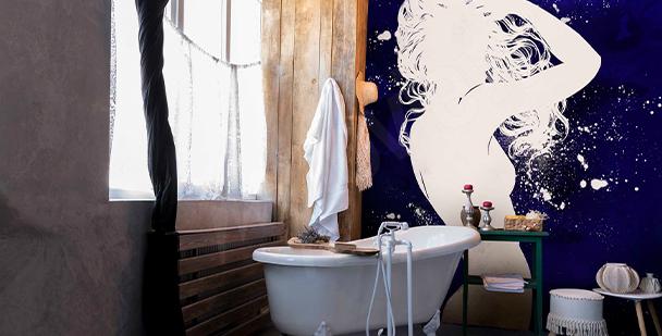 Papier peint avec une femme nue