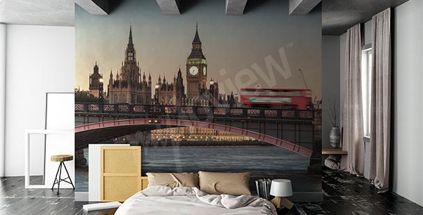 Papier peint avec une vue de Londres