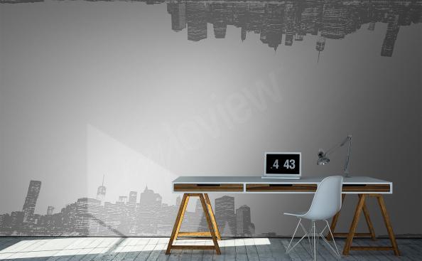 papier peint avec ville pour le bureau