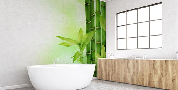 Papier peint bambou vert