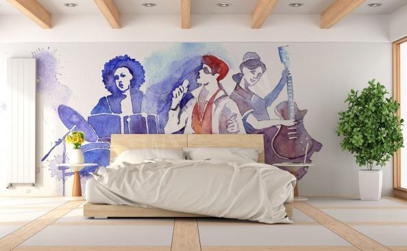 Papier peint bande de musique