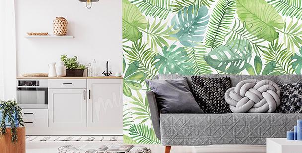 Papier peint botanique pour salon