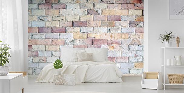 Papier peint briques en couleurs