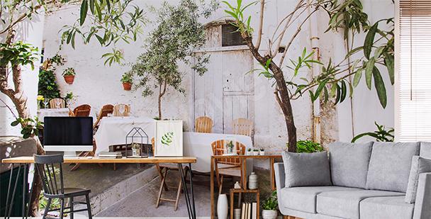 Papier peint café italien