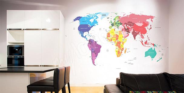 Papier peint carte - couleurs
