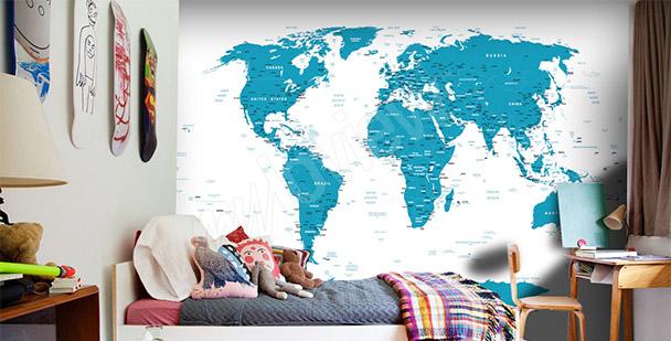 Papier peint carte du monde design