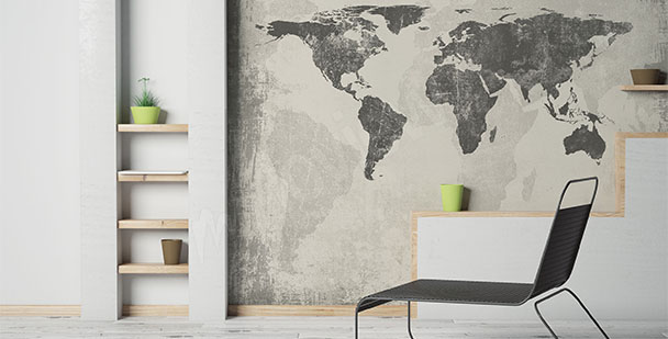 Papier peint carte minimaliste