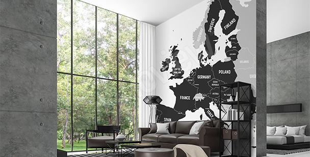 Papier peint carte pays européens