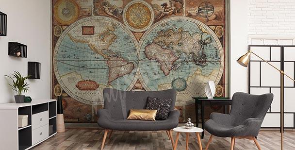 Papier peint Cartographie ancienne