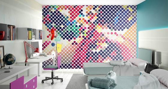 La chambre d'ado –inspiration avec le papier peint ado