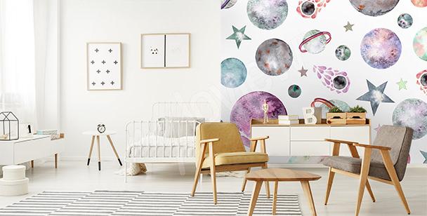 Papier peint Cosmos pour enfant
