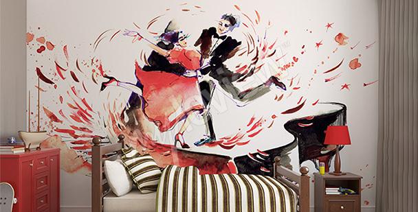 Papier peint couple dansant
