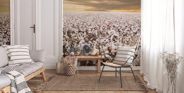 Papier peint culture du coton