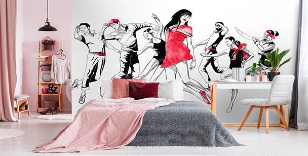 Papier peint danse moderne