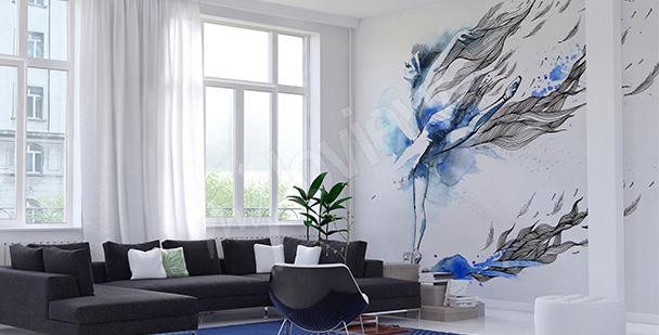 Papier peint danseuse bleue