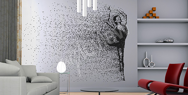 Papier peint danseuse – minimaliste