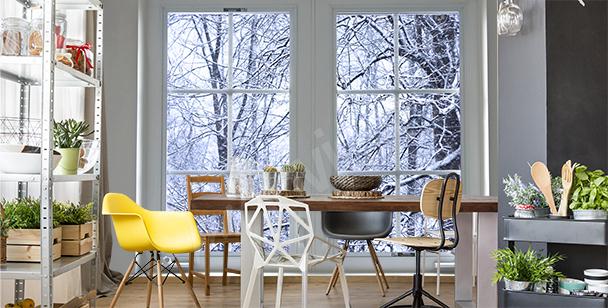 Papier peint de paysage d'hiver