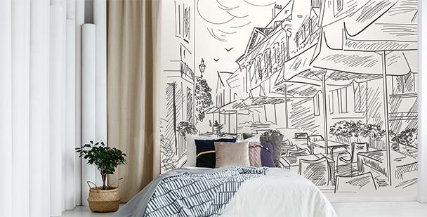 Papier peint de style street café