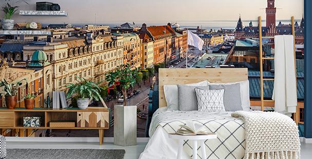 Papier peint de ville pour la chambre