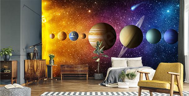 Papier peint planètes pour enfants