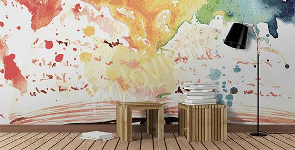 Papier peint école abstrait