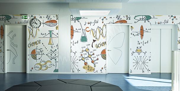 Papier peint une classe de maths