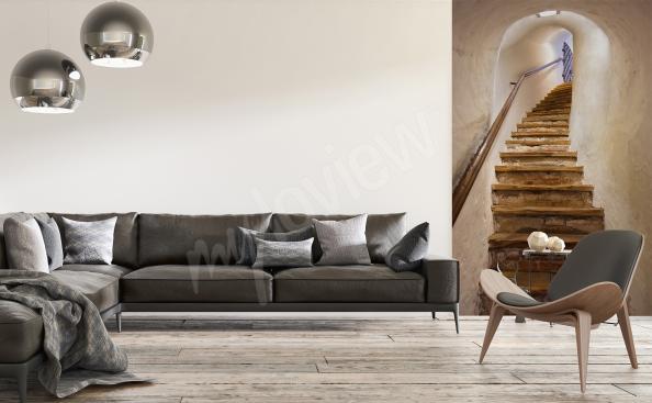 Papier peint escalier 3D pour salon