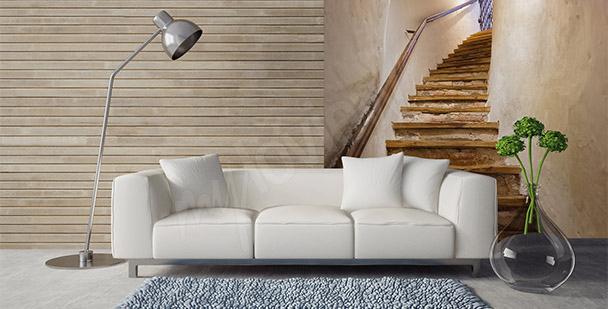Papier peint escalier en bois