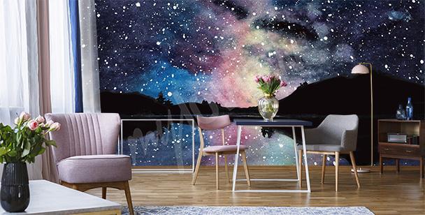 Papier peint espace pour salon