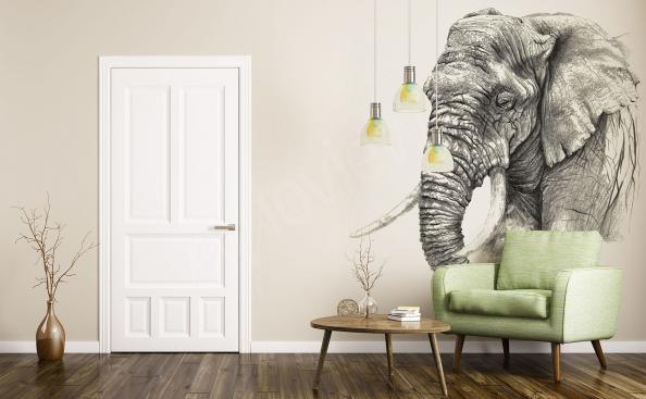 Papier peint esquisse d'un éléphant