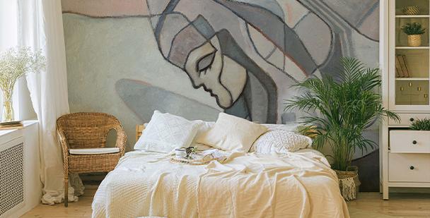 Papier peint femme abstraite