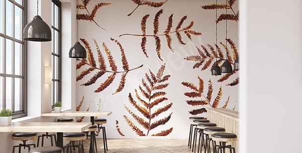 Papier peint feuilles d'automne