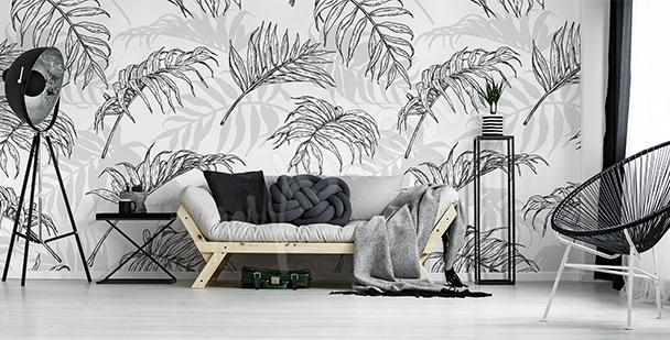 Papier peint feuilles de palmier