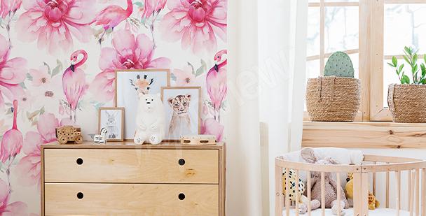 Papier peint flamands pour filles
