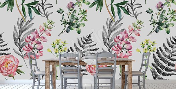 Papier peint fleurs de jardin