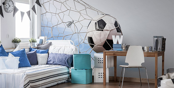 papiers peints football mur aux dimensions. Black Bedroom Furniture Sets. Home Design Ideas