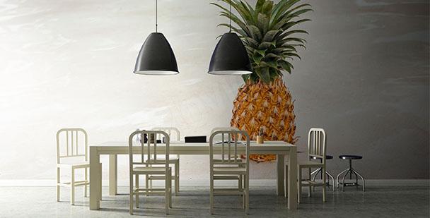 Papier peint fruit: ananas