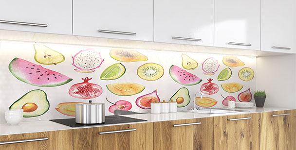 Papier peint fruits d'été