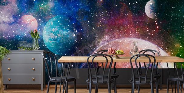Papier peint planètes et nébuleuse