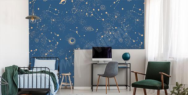 Papier peint galaxie pour chambre d'ado